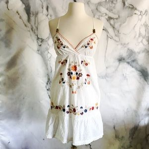 Flying Tomato Floral Embroidered Eyelet Dress